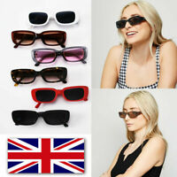 CAT EYE RECTANGLE SQUARE SMALL WOMEN SUNGLASSES BLOGGERS UK...