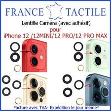 Lentille Caméra + Adhésif Verre Appareil Photo pour iPhone 12/Mini/Pro/Pro Max