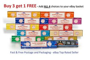 Incense Sticks Satya Insence Sticks Buy 3 get 1 Free Insense Joss Sticks frm 99p