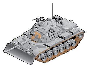 1:35 Dragon Idf M60 W/Dozer Blade Kit DR3582 Miniature