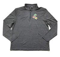 NWT G.H. Bass & Co. Men's 1/4 Zip Long Sleeve Pullover Shirt Gray, Size XL