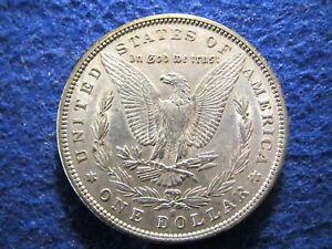 1890 S Morgan Silver Dollar - Scarcer - Lustrous Bright AU+     Read