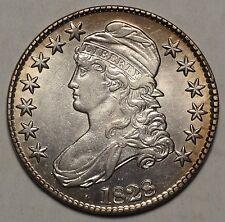 1828 Bust Half Dollar, Flat Base 2, Sharp High Grade Type Coin   1207-03