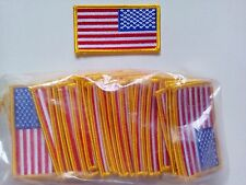 """50 Pcs Reverse USA American Flag (G) Embroidered Patches 3.25""""x1.75"""""""