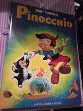 Walt Disney's Pinocchio Vtg 1972 A Big Golden Book