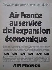 11/1974 PUB AIR FRANCE CARGO FRET AERIEN FRACHT PELICAN ORIGINAL FRENCH AD