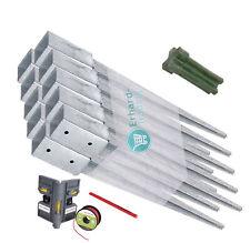 Einschlag-Bodenhülsen 10er-Set Einschlaghülse für Vierkantholz-Pfosten / Zaun
