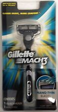 Gillette Mach3 Razor Handle with 1 Cartridge, Fits Mach3 and Turbo Blades