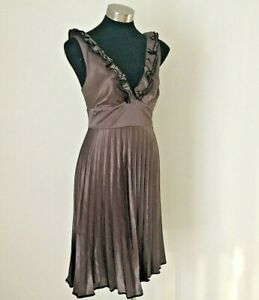Review Bronze Pleated Dress Size 14
