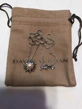 "David Yurman .925 Sterling Silver Starburst Pearl Pendant Necklace 16-17"" Long"