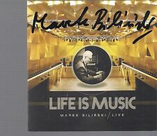 MAREK BILINSKI - LIVE LIFE IS MUSIC SIGNED AUTOGRAF TOP RARE CD & DVD KOMENDAREK