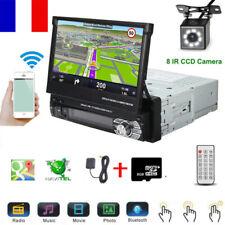 "7""Autoradio 1DIN Écran Tactil GPS Bluetooth Stereo Player MP5 Retractable+Caméra"
