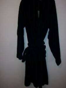 marks & Spencer, men's Large, luxury pure cotton, dressing gown, navy blue