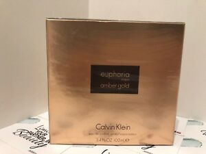 Calvin Klein euphoria men amber gold Eau De Parfum 100 ml Genuine- Sealed Box -