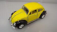 Collectible Die Cast YELLOW 1967 Volkswagen Beetle VW Bug 1:32 Scale Kinsmart