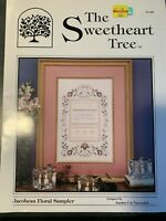JACOBEAN FLORAL SAMPLER  Counted Cross Stitch Book by The Sweetheart Tree SV-032