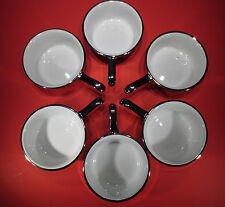 RARE Royal Worcester Lustre Silver Individual Cocettes - Set of 6