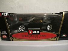 1:18 Ferrari 456 GT matt schwarz Bburago limitiert Nr. 19 von 200, NEU & OVP