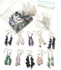Gemstone jewellery making kit makes 10 pairs of gemstone  chip earrings (Z3)