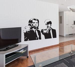 Pulp Fiction Tarantino Travolta Jackson Wall Sticker Bedroom Removable Decal DIY