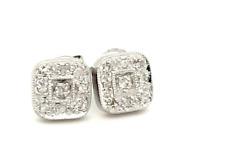 Diamond Multi Stone Earrings 9ct White Gold