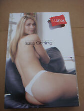 New Black HANES Sexy G-String panties, underwear, knickers,briefs size 12 L