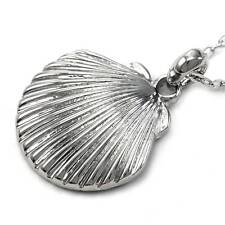 Clam Shell Seashell Necklace Pendant Charm Perfect Wedding Gift Bride Bridesmaid
