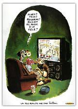 Affiche Vuillemin La télé réalité 50x70 cm