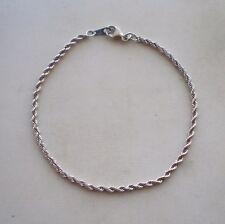 Designer MILOR ITALY Solid PLATINUM PT950 Diamond Cut Twisted Rope BRACELET 2.3g