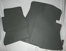 2008 to 2010 BMW 528i/528Xi All Season Rubber Floor Mats - FACTORY OEM - GRAY