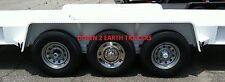 "(1) 16"" 8 Lug Stainless Steel Trailer Wheel Hub Cap Rim Covers( 2 Stud Bolt On)"