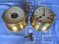 Schatz Schiffsuhr Glasenuhr Royal Mariner und Holosteric Compensated Barometer C