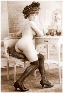 Vintage 145 1920's Erotic Female Nude Sepia Retro Art PHOTO REPRINT A4 A3 or A2