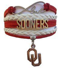 University of Oklahoma Sooners College Infinity Bracelet Jewelry Apparel