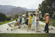 "'Desert House Party' 1970 by Slim Aarons Extra Large Ctype print 24x20"" Inches"