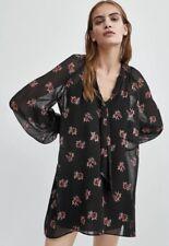 fc150b4c Zara Floral Print Dress Fall 2018 Sold Out NWT $49.90 Black Pink