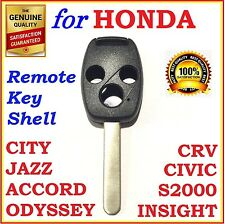 Fit Honda Accord/CRV/Civic/City/Jazz/Odyssey/S2000 3 Button Key Remote Shell