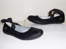 Jessica Simpson Black Criss-Cross Flats Size 4 Shoes