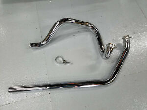 True duals Independent Head Pipes Exhaust Harley FLH Shovelhead 70-1984 4 Speed