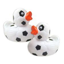 Bade-Ente mit Fußballmuster, 8,5cm, 1 Stk, wassertauglich