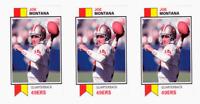 (3) 1993 SCD #53 Joe Montana Football Card Lot San Francisco 49'ers