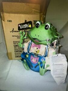 """New Home Interiors Frog Welcome Lantern Candleholder 12"""""""