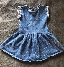Cat & Jack Chambray Dress 3T Stars Toddler Girl
