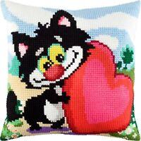 """Needlepoint//Tapestry Pillow Cover DIY Kit /""""Apple Blossom/"""""""