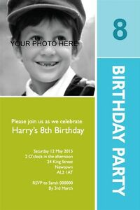 50 PERSONALISED PHOTO  KIDS & ADULTS BIRTHDAY PARTY INVITATIONS MANY COLOUR  6X4