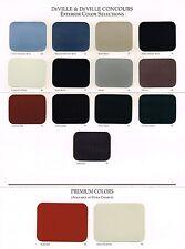 1995 Cadillac DeVille / Concours Color Chart Chip Sample Brochure (w/ spec's)