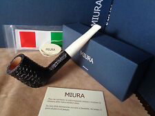 PFEIFE PIPE MIURA CAMINO RUSTIC BALCK WHITE STEM  9MM  HAND MADE ITALY 24M21