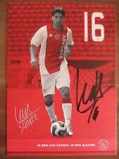 Handsignierte AK Autogrammkarte *LUIS SUAREZ* Ajax Amsterdam 07/08 2007/2008 RAR