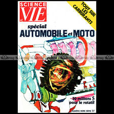 SCIENCE & VIE HS 100 SALON AUTO MOTO 1973 MOTEUR ROTATIF GM WANKEL GRAND PRIX