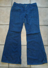Vintage 70's Wrangler Blue Denim Bell Bottom Jeans Juniors 15 32 x 30 Exc Cond!